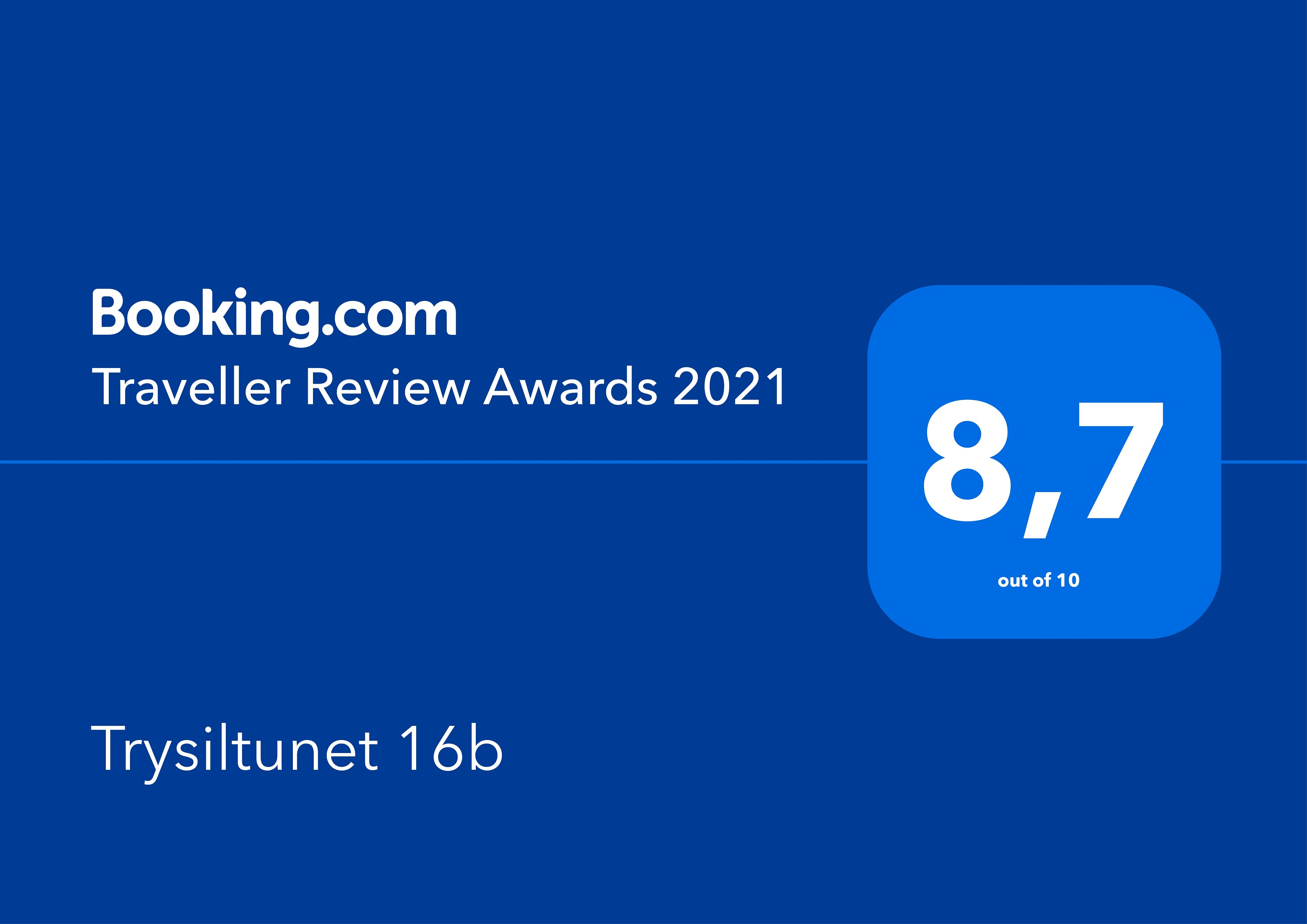 Traveller Review Award for 2021